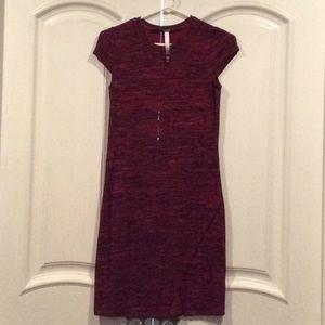 Kensie Red Dress w/ front slit XS